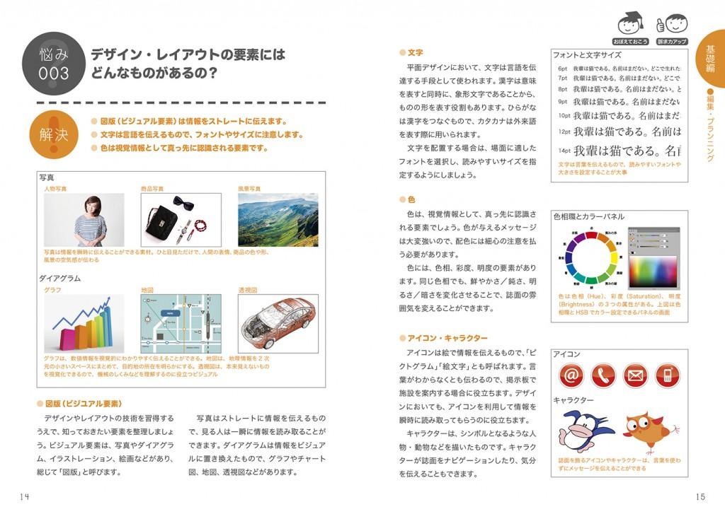 P14〜15「デザイン・レイアウトの要素にはどんなものがあるの?」