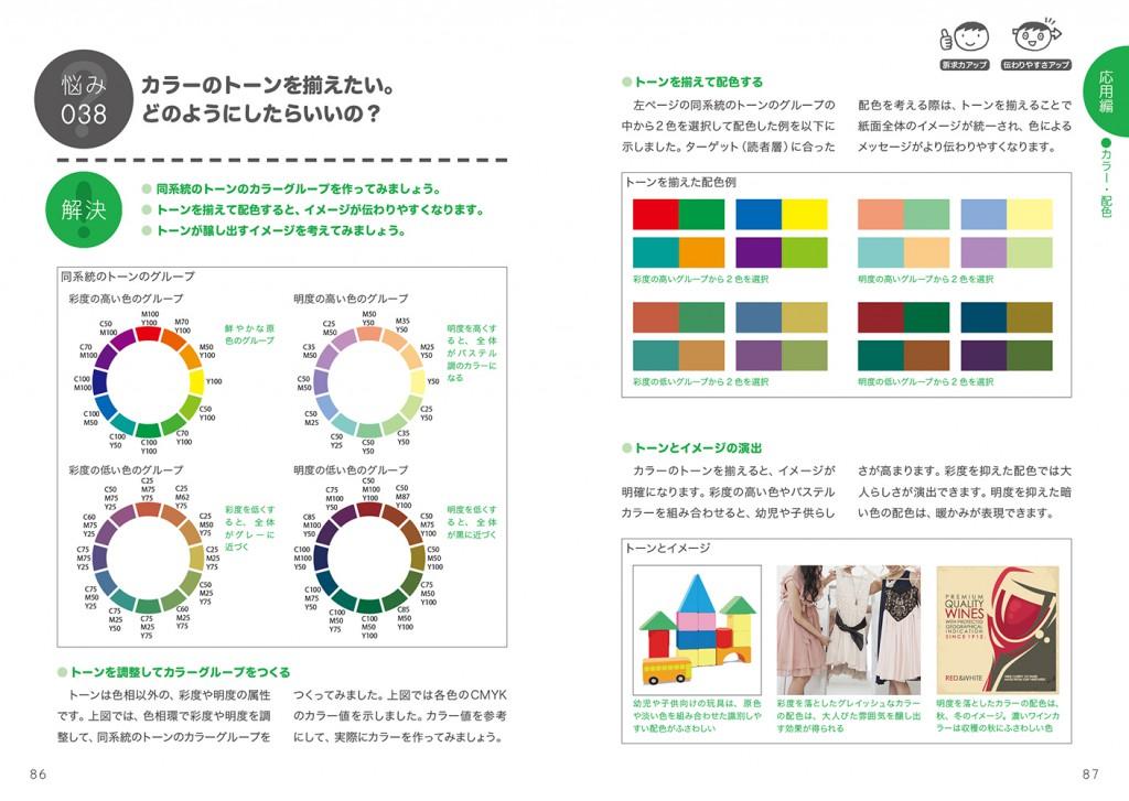 P86〜87「カラーのトーンを揃えたい。どのようにしたらいいの?」
