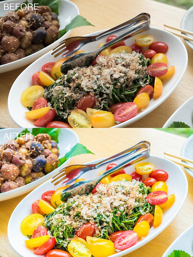 第1回:料理の写真を明るく色鮮やかにの作例